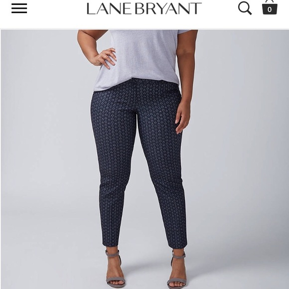 5410ad02671d6 The Allie Sexy Stretch Cosmic Diamond Ankle Pant. NWT. Lane Bryant